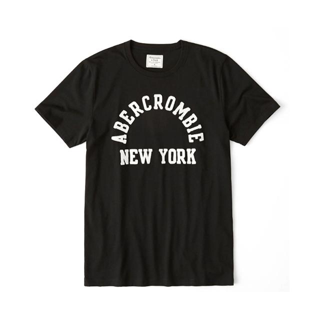 [국내배송]아베크롬비 아플리케 반팔 티셔츠 0079 091 블랙 남녀공용