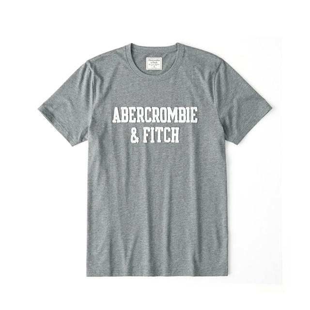 [국내배송]아베크롬비 아플리케 반팔 티셔츠 0079 012 그레이 남녀공용