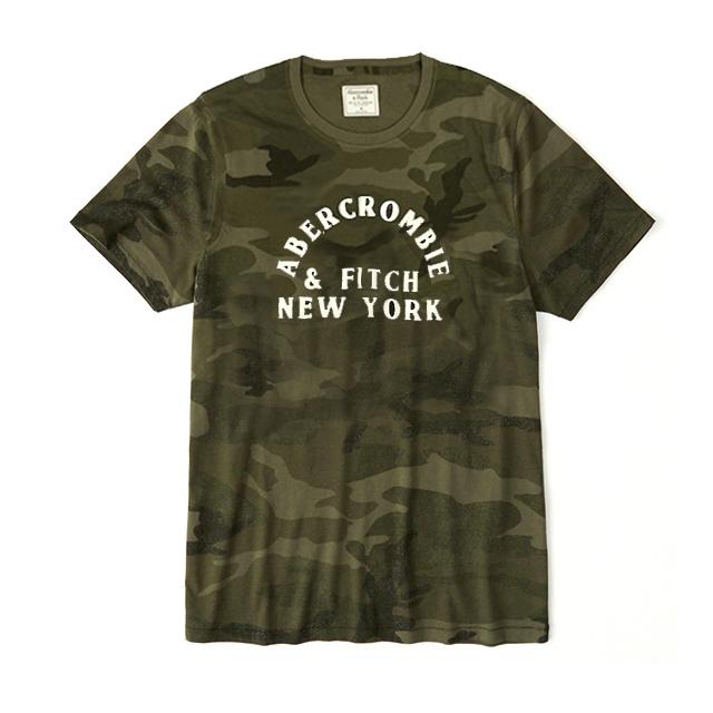 [국내배송]아베크롬비 로고 반팔 티셔츠 0069 036 밀리터리 남녀공용
