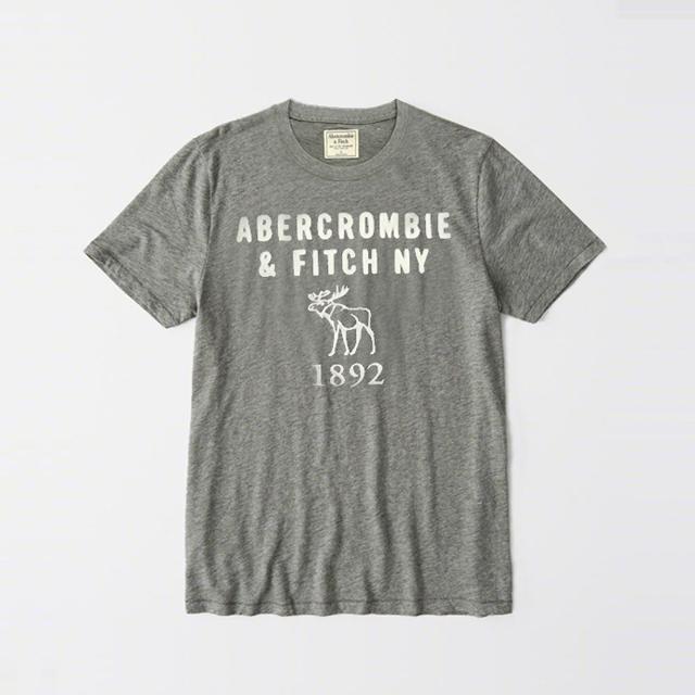 [국내배송]아베크롬비 로고 반팔 티셔츠 0068 012 그레이 남녀공용