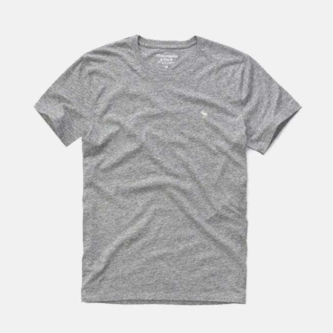 [국내배송]아베크롬비 라운드 반팔 티셔츠 0096 015 그레이 남녀공용