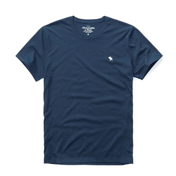 [국내배송]아베크롬비 로고 반팔 티셔츠 0095 023 네이비 Abercrombie 남녀공용