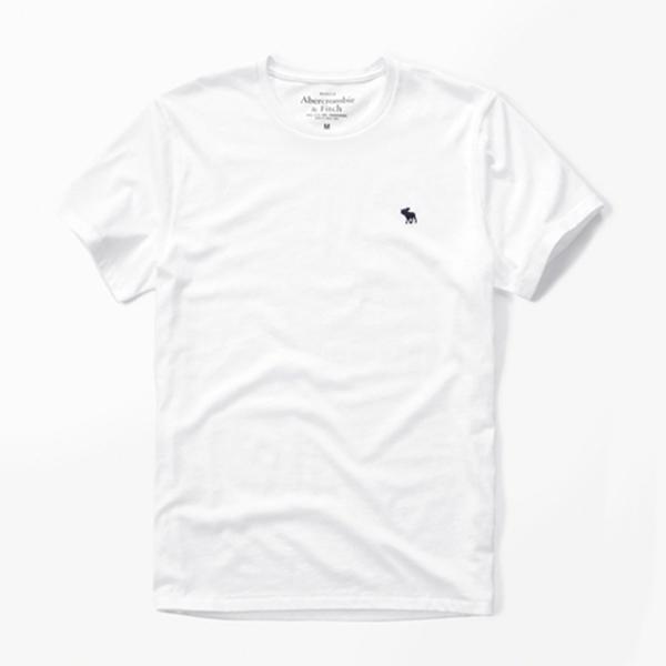 [국내배송]아베크롬비 로고 반팔 티셔츠 0094 001 화이트 Abercrombie 남녀공용