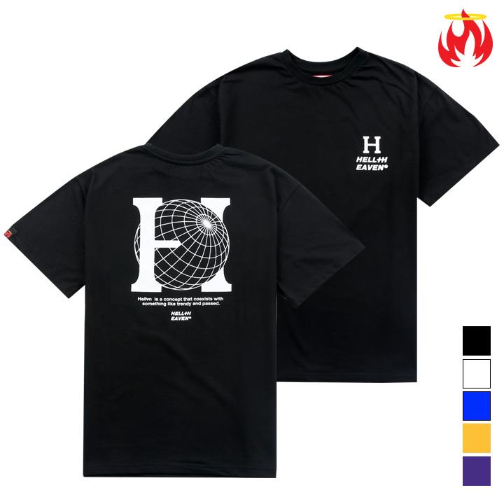 헬븐 - BIG H - (SHTH8S-084) - 나염반팔