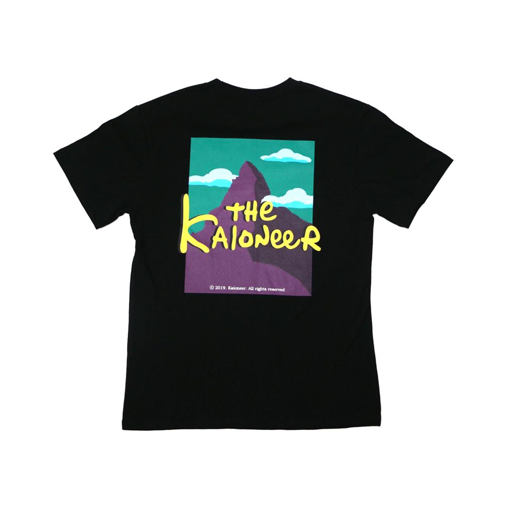 마테호른 일러스트 반팔 티셔츠(블랙)