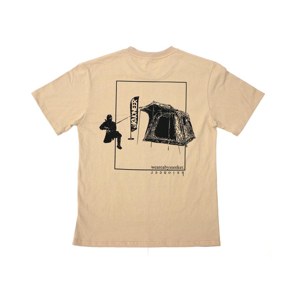 캠핑닌자 반팔 티셔츠(베이지)