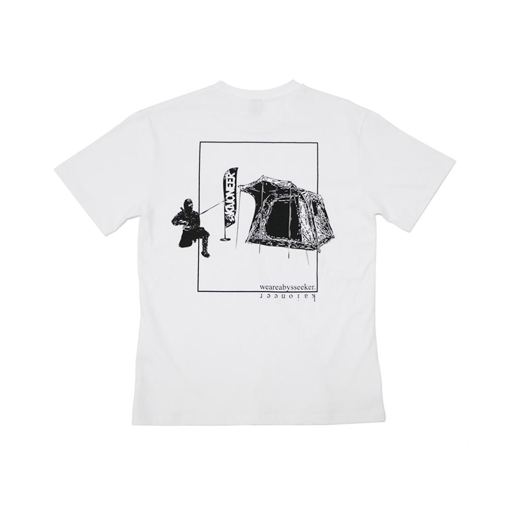 캠핑닌자 반팔 티셔츠(화이트)