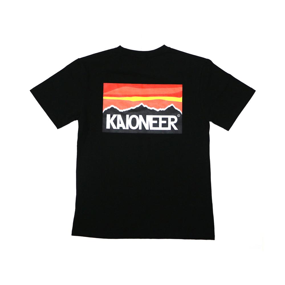 패러디선셋 반팔 티셔츠(블랙)