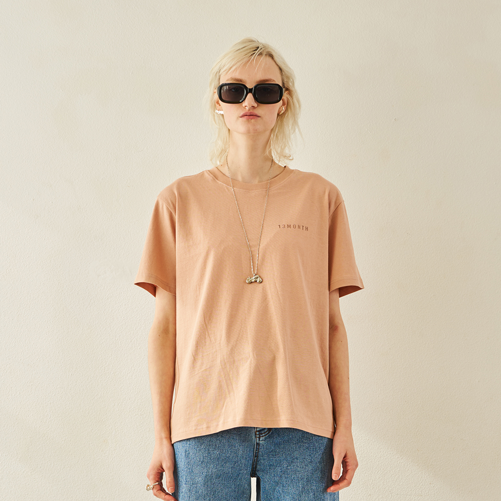 MULTI GRAPHIC HALF SLEEVE T-SHIRT (PEACH)