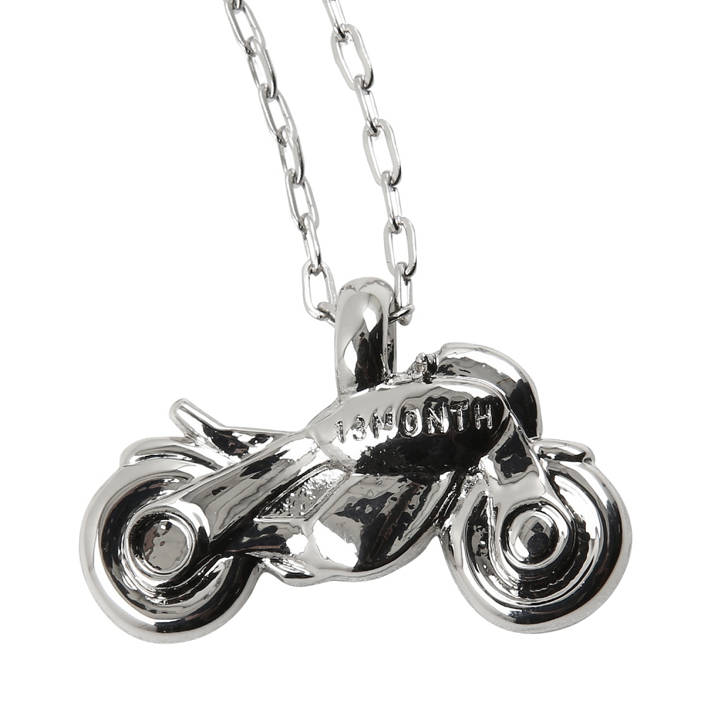 13MONTH X BUWON BIKE NECKLACE (SILVER)