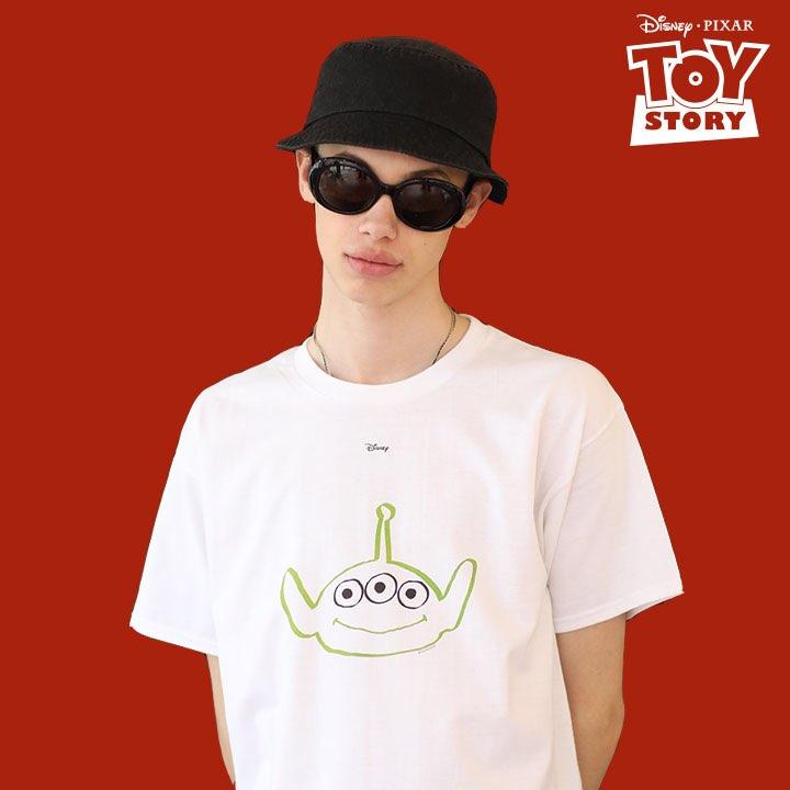 Green Alien T-Shirt White