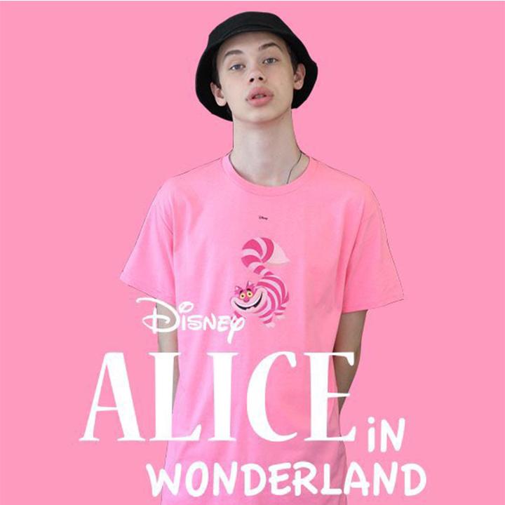 Alice Cheshire Cat T-shirt Pink