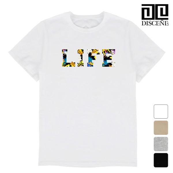 [한정수량] 디씬 - LIFE LOGO - 루즈핏 반팔 티셔츠
