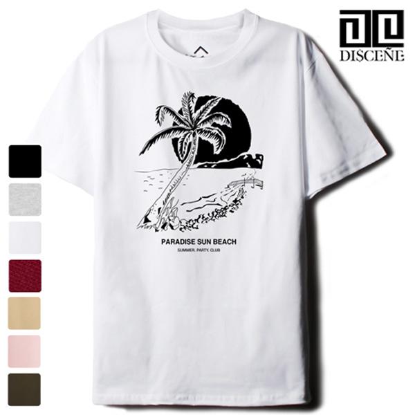 [한정수량] 디씬 - 야자수 - 루즈핏 반팔 티셔츠