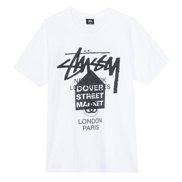19SS 스투시 도버스트릿 월드 투어 티셔츠 화이트