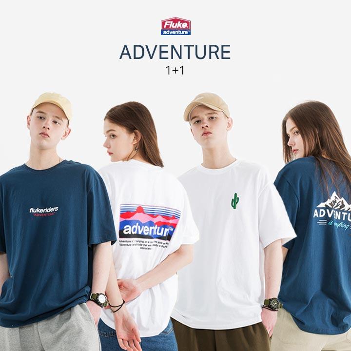 [1+1] 플루크 Summer 어드벤쳐 TOP4 티셔츠 패키지