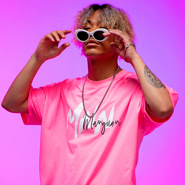 MNN 브릭 네온 티셔츠 [neon pink]