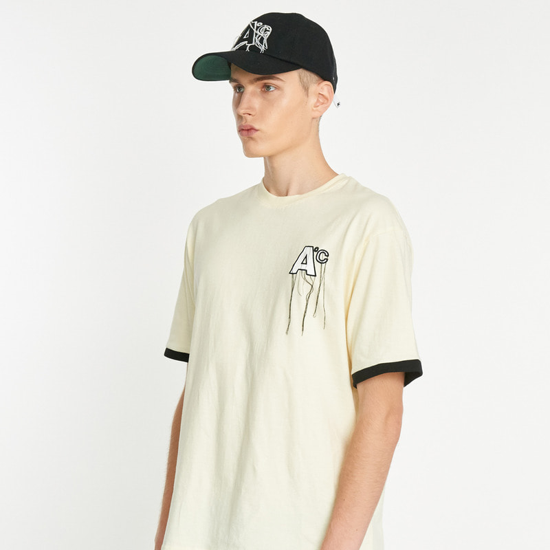 Line T-shirts - Cream