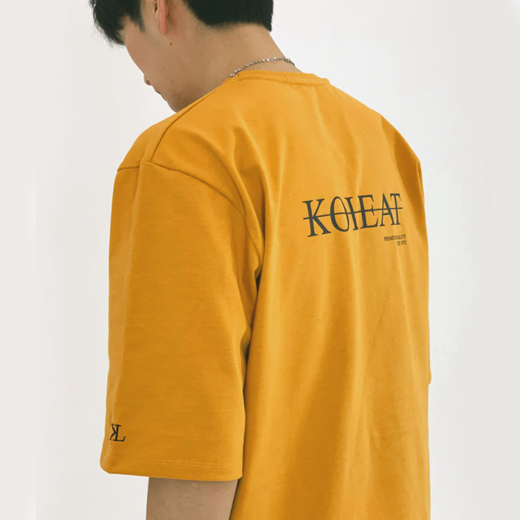 S/S MEN COLOR POINT TEE (DARK YELLOW)