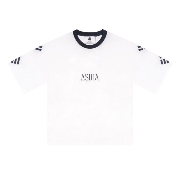 {C} (S/S) AsiHa Geon Gon Gam Yi 1/2 T-shirts White