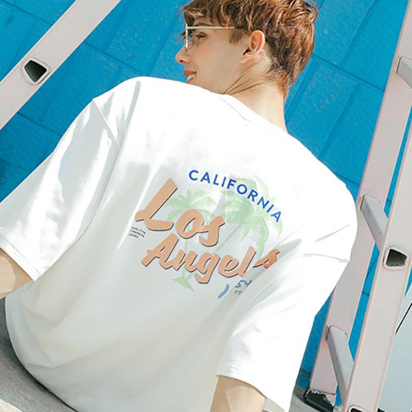 Los Angeles half T-shirt_letw0002