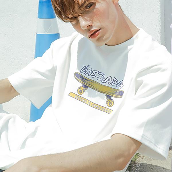 Skate Board half T-shirt_lotw0005