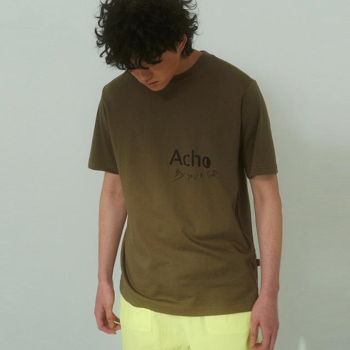 [아쵸]유니섹스 로고 티셔츠 카키