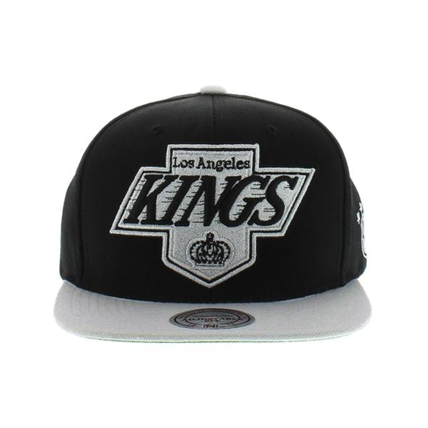 [국내배송]미첼앤네스 LA KINGS XL 로고 2톤 스냅백