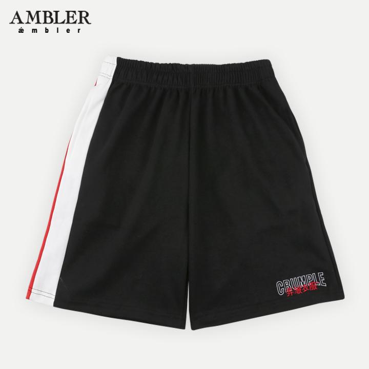 [엠블러]AMBLER 신상 트레이닝 5부 반바지 ASP203-블랙