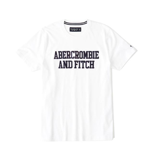 [국내배송]아베크롬비 남녀공용 라운드 반팔티 2586 100 화이트 Abercrombie
