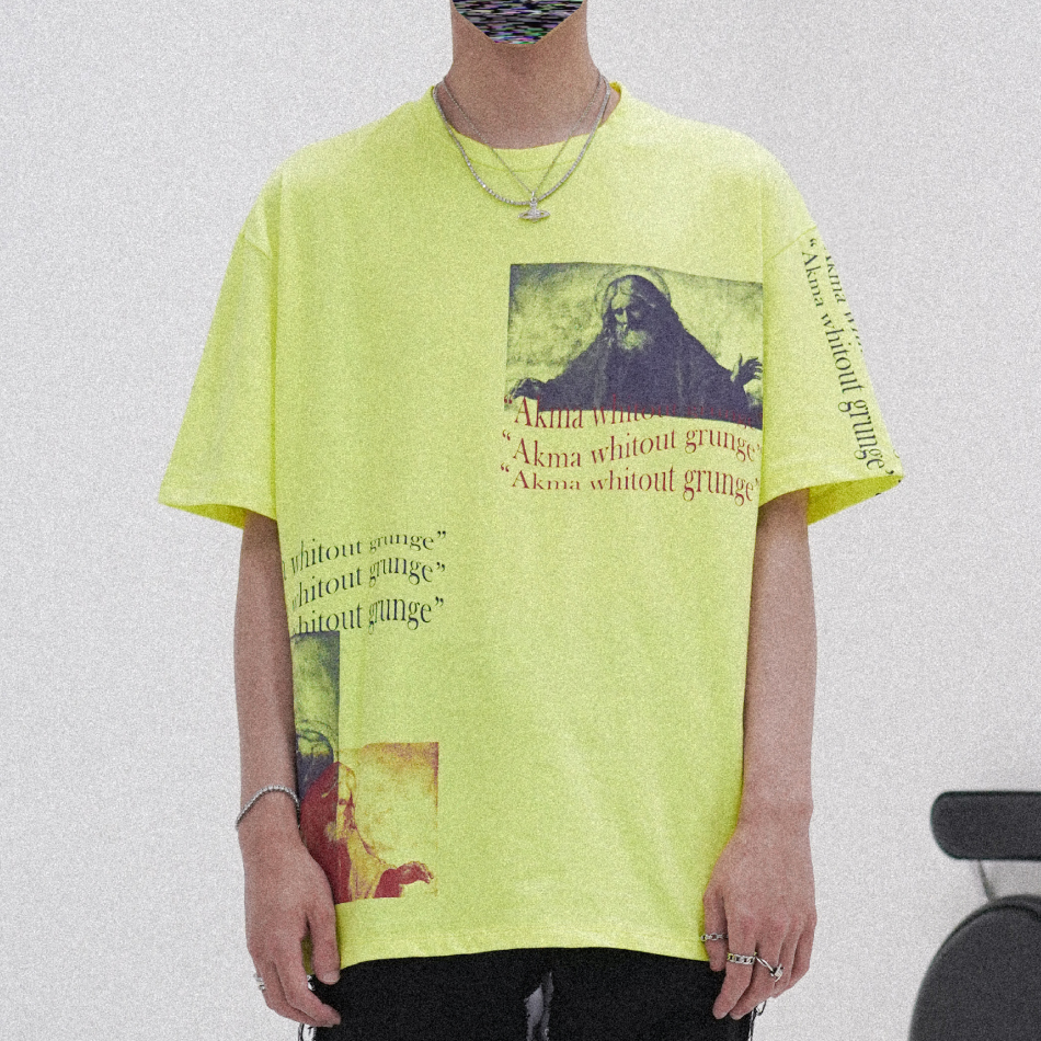 """POP UP SERIES """" AKMA WITHOUT GRUNGE """" T-SHIRT #1 _NEON"""