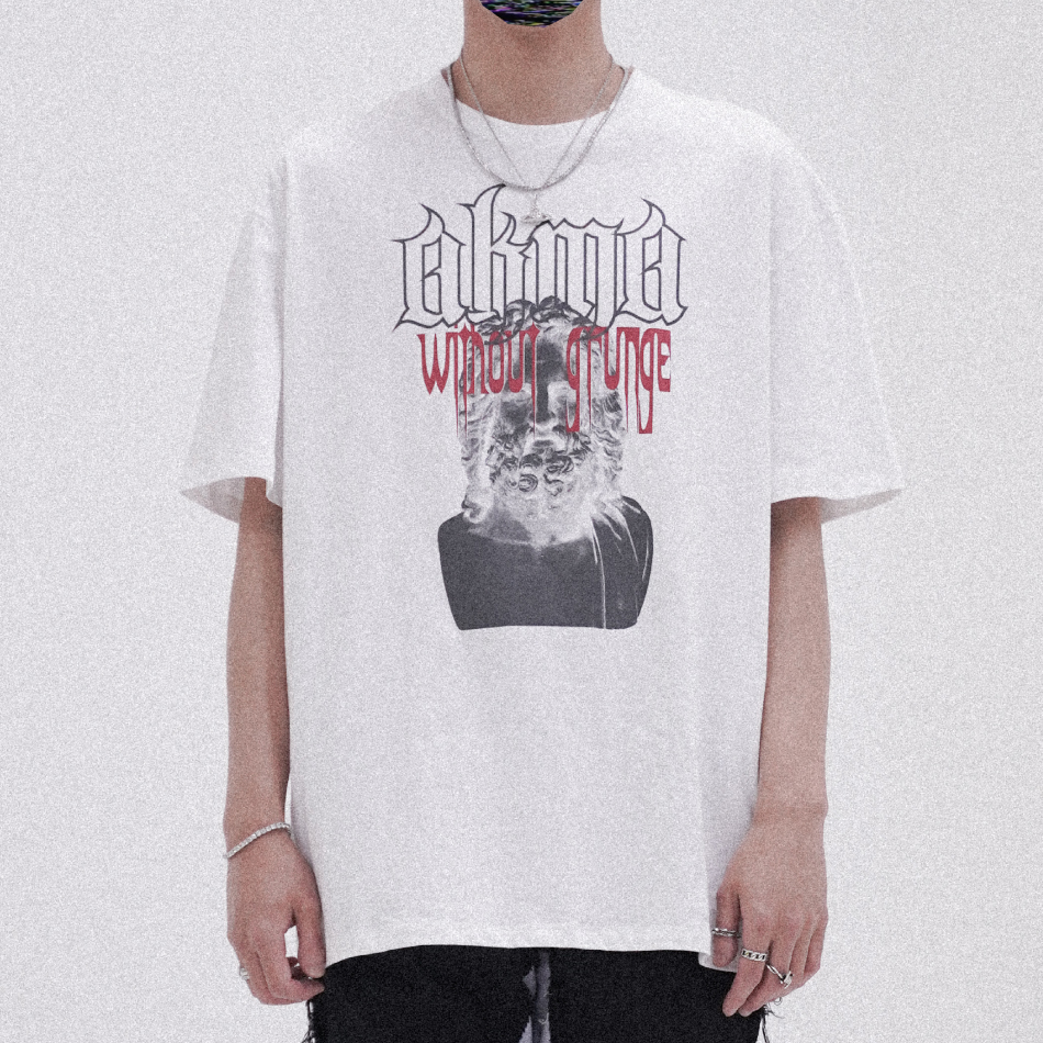 "POP UP SERIES "" AKMA WITHOUT GRUNGE "" T-SHIRT #3 _WHITE"