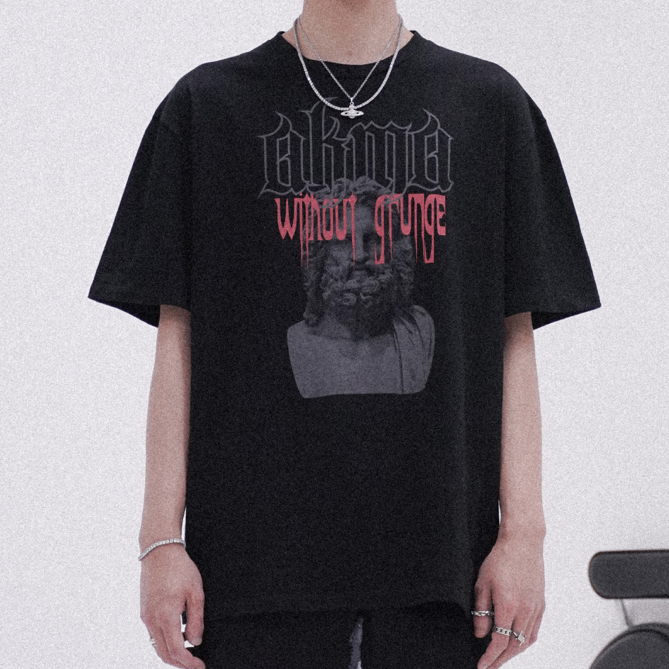 "POP UP SERIES "" AKMA WITHOUT GURNGE "" T-SHIRT #4 _BLACK"