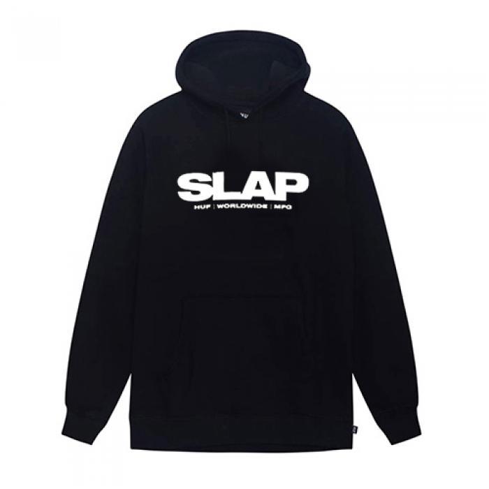 [허프 후드티/집업] HUF X SLAP HOODIE-BLK