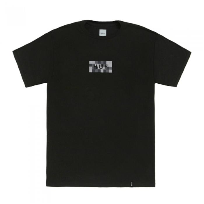 [허프 반팔티] COLOR BLOCK BAR LOGO TEE-BLK