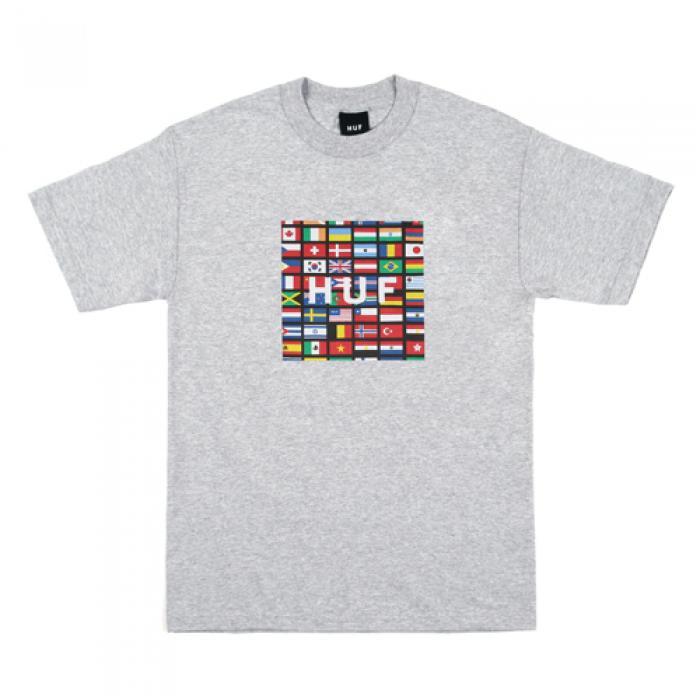 [허프 반팔티] FLAG BOX LOGO TEE-GREY