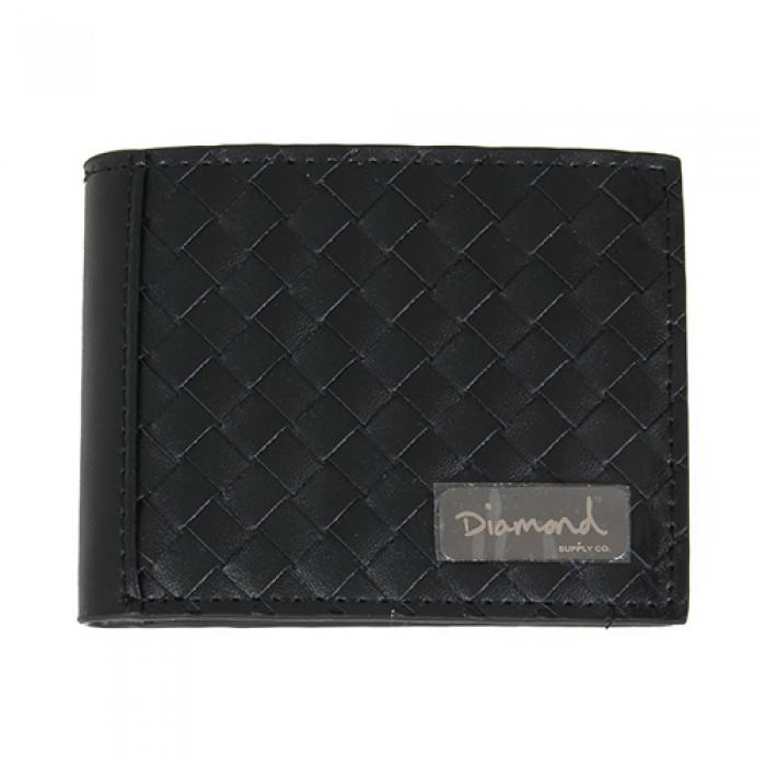 [다이아몬드 지갑] BASKET WEAVE LEATHER BI-FOLD WAL