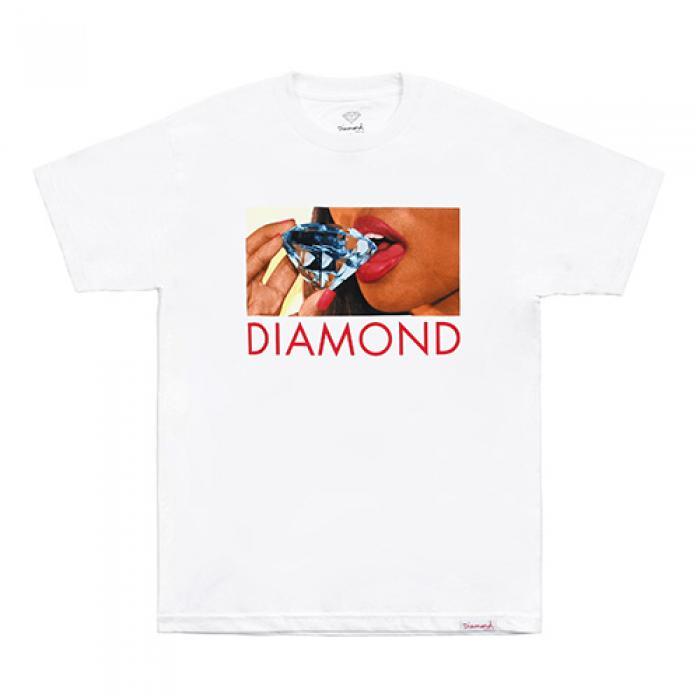 [다이아몬드 반팔티] DIAMOND LIPS TEE-WHT