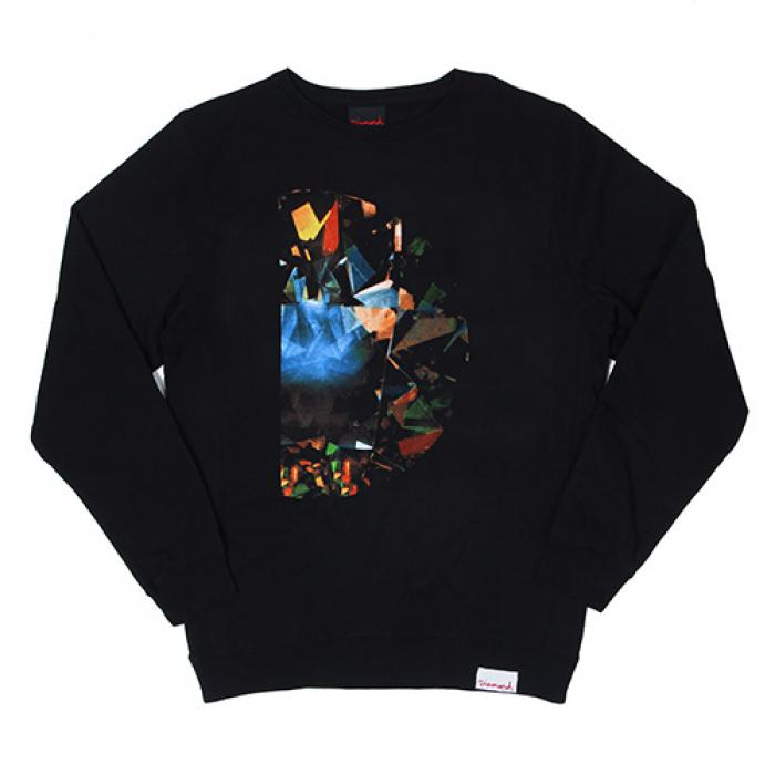 [다이아몬드 맨투맨] HALF DIAMOND CREWNECK-BLK