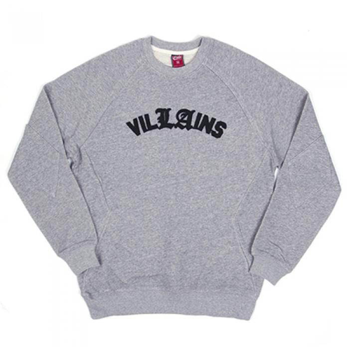 [크룩스앤캐슬 맨투맨] VILLAINS CREW SWEATSHIRT-GRY