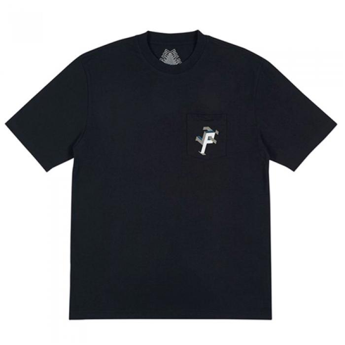[국내][팔라스 반팔티] P MAN POCKET T-SHIRT-BLACK