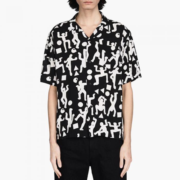 [칼하트WIP 셔츠] (I024569)S/S WORLD PARTY SHIRT-WO