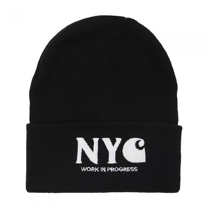 [칼하트WIP 비니] (I017328)WIP NYC BEANIE-BLK