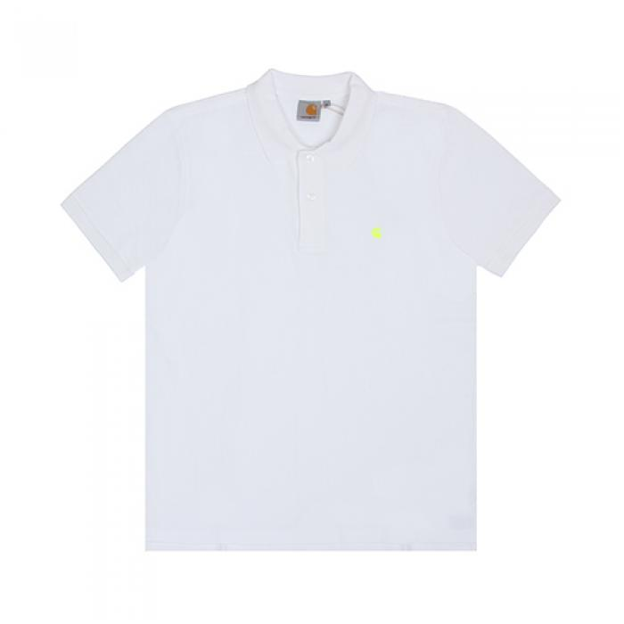 [칼하트WIP 반팔티] (I016466) SLIM FIT POLO-WHT