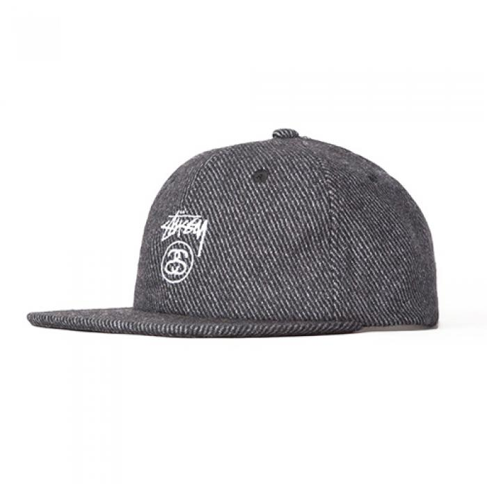 [스투시 볼캡/스냅백] STOCK LOCK WOOL STRAPBACK CAP