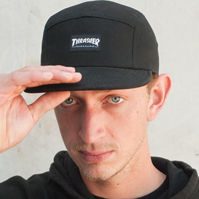 [트레셔 캠프캡] THRASHER 5 PANEL CAP - BLK