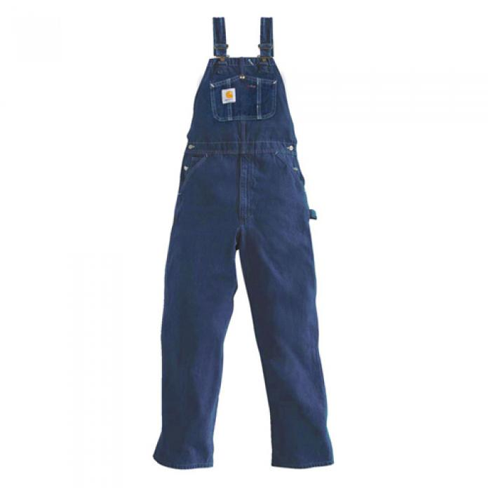 [칼하트 데님팬츠] (R07)M WASHED DENIM BIB OVERALLS