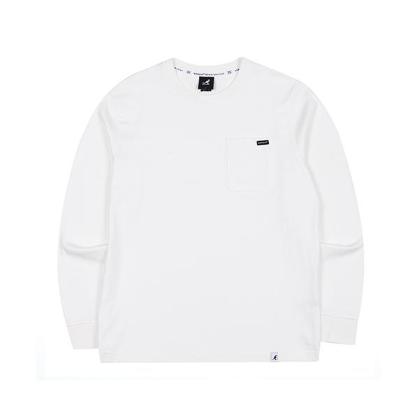 Pocket L/S T-shirt 3506 WHITE