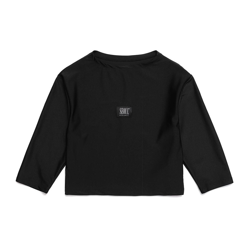 [서울어패럴]SEOUL Apparel Half Neck T-shirts (Black)