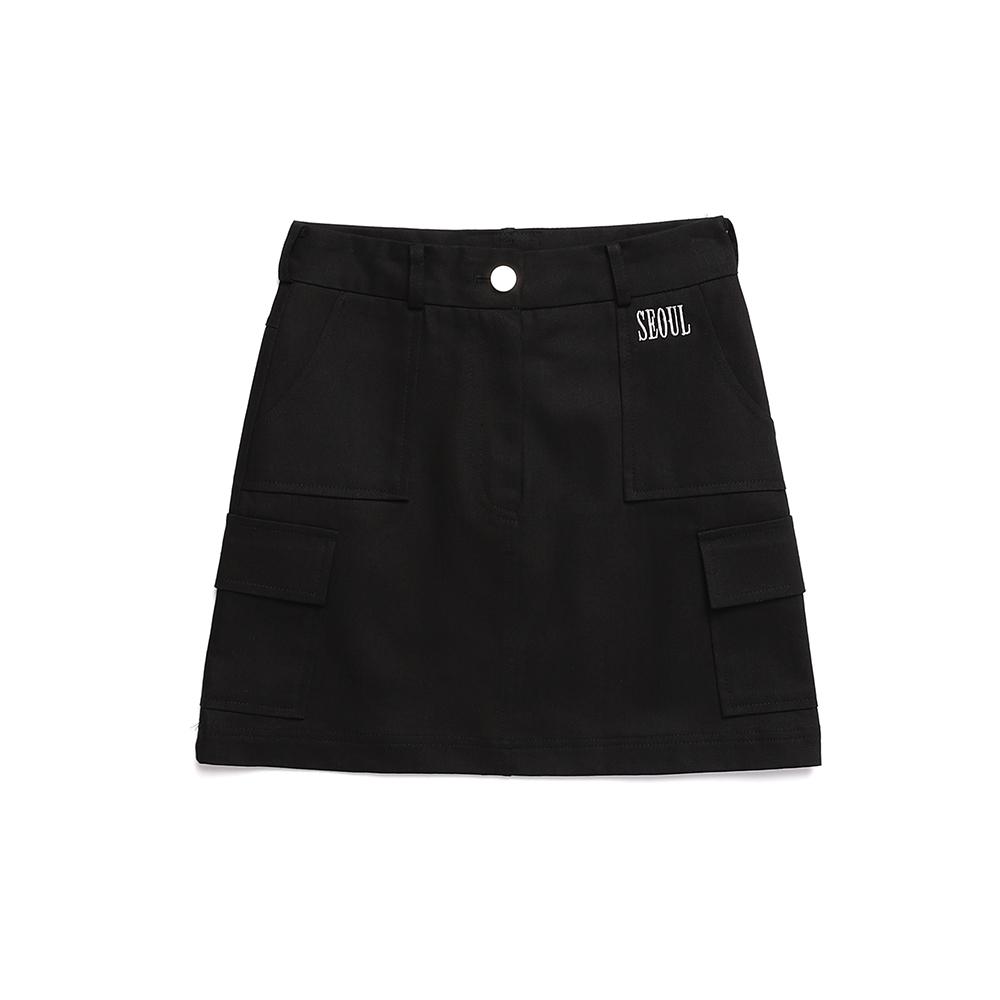 [서울어패럴]SEOUL Apparel Cargo Skirts (Black)